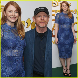 Bryce Dallas Howard Gets Support From Director Dad Ron at 'Pete's Dragon' Screening in London