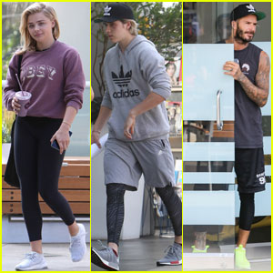 Chloe Moretz Joins Brooklyn & David Beckham at SoulCycle