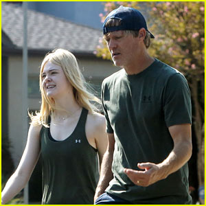 Elle Fanning Spends the Morning Working Out with Her Dad!
