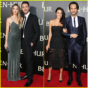 Jack Huston & Rodrigo Santoro Bring Their Partners To 'Ben-Hur' L.A Premiere!