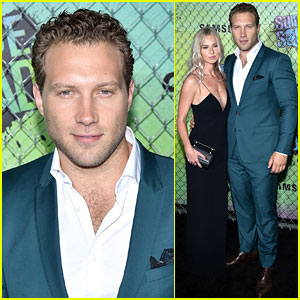 Jai Courtney & Girlfriend Mecki Dent Couple Up at 'Suicide Squad' NYC Premiere!