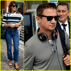 Jeremy Renner & More Celebs Arrive for Venice Film Festival 2016
