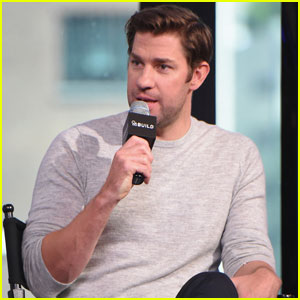 John Krasinski Promotes 'The Hollars' in New York City
