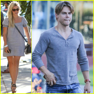 Derek Hough Meets Up With Sister Julianne for Dinner in WeHo