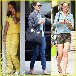 Katie Holmes Continues Filming for Her Comedy 'Coup D'etat'