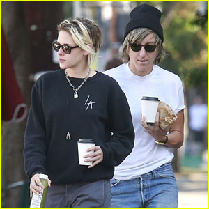 Kristen Stewart & Alicia Cargile Do a Weekend Coffee Run