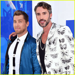Lance Bass & Robert Sepulveda Jr. Look Sharp on the MTV VMAs 2016 Red Carpet!