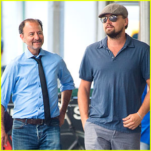 Leonardo DiCaprio & Fisher Stevens Work on Documentary in New York
