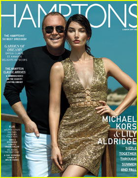 Lily Aldridge Goes for Gold on 'Hamptons' Magazine Cover