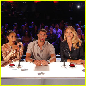 Michael Phelps Co-Hosts 'America's Got Talent' (Video)