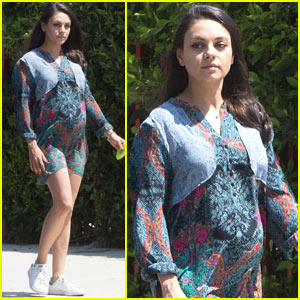 Mila Kunis Shows Off Her Growing Baby Bump While Out in Beverly Hills