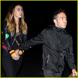Pete Wentz & Girlfriend Meagan Camper Check Out Guns N' Roses in Concert