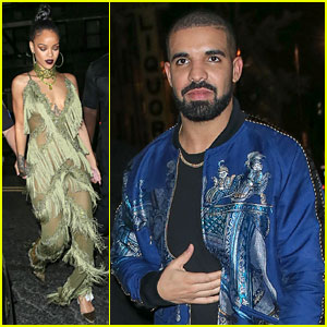 Rihanna & Drake Leave VMAs After Party Together