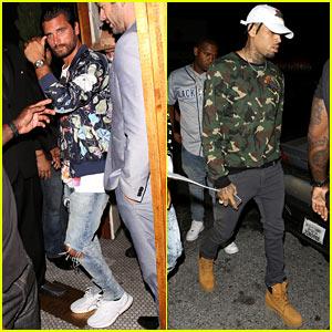 Scott Disick & Chris Brown Help Kylie Jenner Kick Off Her 19th Birthday Bash