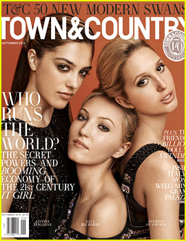 Sistine Stallone, Ella Richards, & Princess Olympia Are Town & Country's Modern Swans