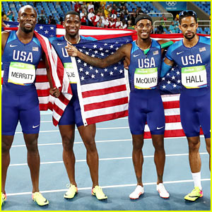 Team USA's Men Win Gold in 4x400 Relay at the Rio Olympics 2016!