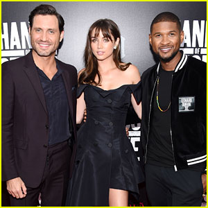 Usher & 'Hands of Stone' Cast Premiere Movie in NYC