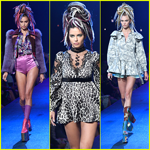 Adriana Lima & Irina Shayk Wear Colorful Dreadlocks on Marc Jacobs Runway For NFYW