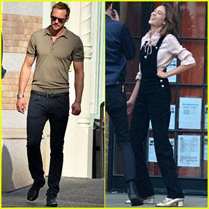 Alexander Skarsgard & Girlfriend Alexa Chung Hang Out Separately on Labor Day