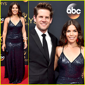 America Ferrera Arrives for Emmys 2016 with Husband Ryan Piers Williams