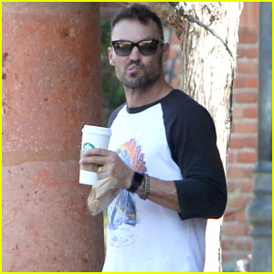 Brian Austin Green Takes a Break From Daddy Duty for Coffee