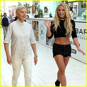 Britney Spears & Ellen DeGeneres Wreak Havoc at the Mall - Watch Now!