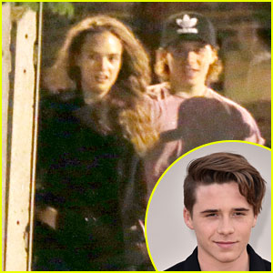 Brooklyn Beckham Takes Model Adrienne Juliger to Elton John Concert!