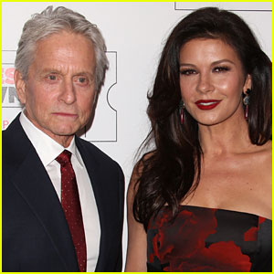 Catherine Zeta-Jones & Michael Douglas Celebrate Birthdays with Cute Pic!