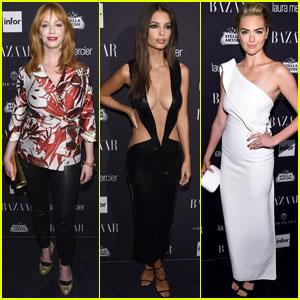 Christina Hendricks, Emily Ratajkowski & Kate Upton Stop By Harper's Bazaar Icons Party