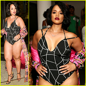 OITNB's Dascha Polanco Bares Skin in Bodysuit at The Blonds NYFW Show