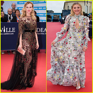 Diane Kruger Looks Gorgeous in Deauville with Rising Star Award Winner Chloe Moretz!