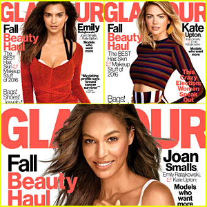Emily Ratajkowski, Joan Smalls, & Kate Upton Cover 'Glamour' October 2016