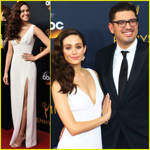 Emmy Rossum & Fiance Sam Esmail Couple Up for Emmys 2016