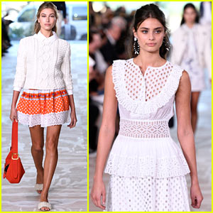 Hailey Baldwin & Taylor Hill Walk in Tory Burch Show During NYFW!