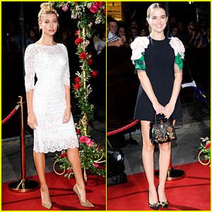 Hailey Baldwin & Zoey Deutch Celebrate Dolce&Gabbana's Milan Boutique Opening!