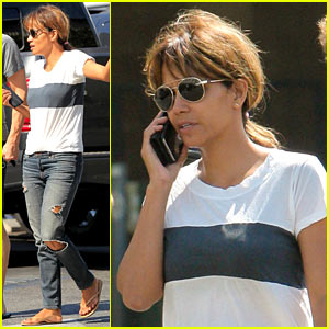 Halle Berry Steps Out for Breakfast After Her Last Bikini Shoot of the Summer!