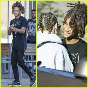 Jaden Smith Shows Some PDA With Girlfriend Sarah Snyder