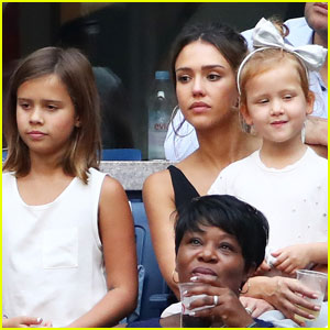 Jessica Alba's Daughters Honor & Haven Are All Grown Up at U.S. Open 2016!