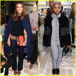 Jessica Alba Sits Front Row at Tory Burch NYFW Show!
