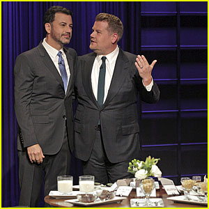 Jimmy Kimmel Plays Gross Eating Game with James Corden!