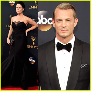 House of Cards' Joel Kinnaman & Neve Campbell Support the Show at Emmys 2016