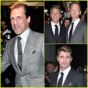 Jon Hamm & Garrett Hedlund Hit Up Tom Ford's Fashion Show