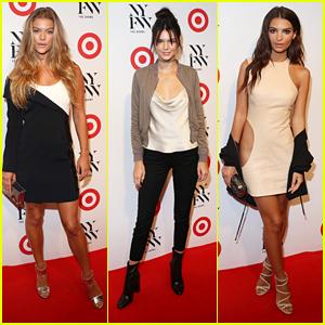 Nina Agdal & Kendall Jenner Hit Up Target & IMG's NYFW Kick Off Party