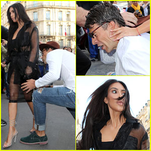 Kim Kardashian Attacked By Vitalii Sediuk in Paris (Photos & Video)