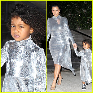 Kim Kardashian & North West Wear Matching Dresses for Kanye's NYC Concert!