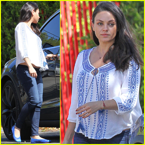 Mila Kunis Heads Out & About With Daughter Wyatt