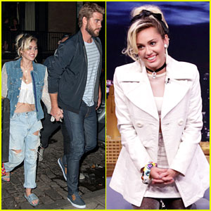Miley Cyrus & Liam Hemsworth Go On Date After 'Fallon' Taping