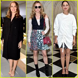 Natalie Portman, Diane Kruger, & Marion Cotillard Stun at Dior Show in Paris