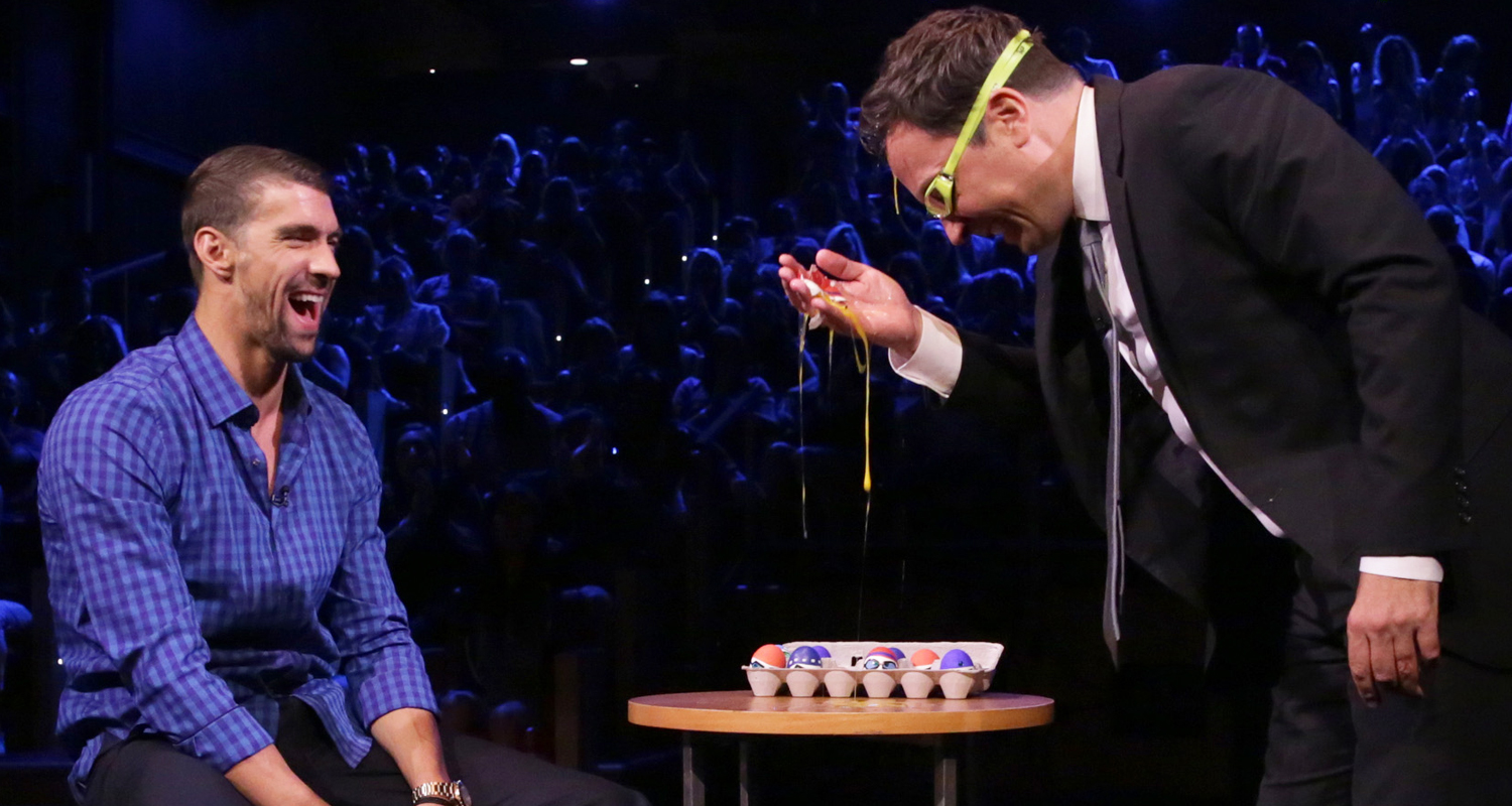 Michael Phelps Plays Egg Russian Roulette with Jimmy Fallon!