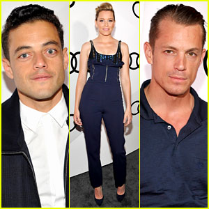 Rami Malek, Elizabeth Banks, & Joel Kinnaman Get Ready for the Emmys at Audi Party